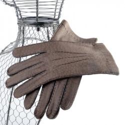 falbalas saint junien - Gant mitaine pour homme en agneau crochet coton 69,50 € Gants auto doigts coupes homme