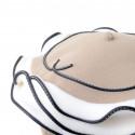 casquette ronde femme en lin synthétique