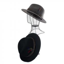 Canne Gris-noir, poignée crochet noire texture douce - 2160 - 119,50 € - Falbalas st junien