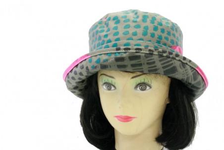 Chapeau mixte grand bord motifs « Prince de Galles » anti-UV - BGB 517 - 64,80 € - Falbalas st junien
